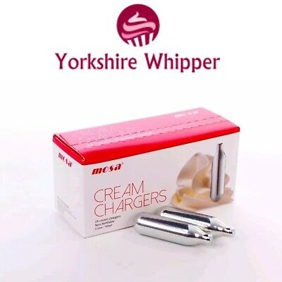 Mosa 600 Whipped Cream Chargers 8g- Whippers Dispensers N2O NOS NOZ 24x25