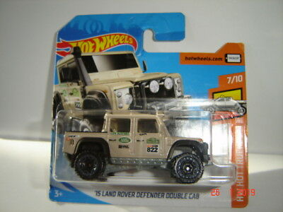 hot wheels ´15 land-rover defender double cab pick-up (braun) ovp hw
