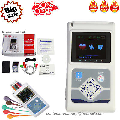 CONTEC TLC9803 Dynamic 3-channel ECG Holter 24h Monitor Software ​Analyze system