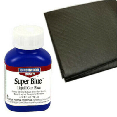 Birchwood Casey Super Blue Liquid Gun Blue PLUS Two Absorbent Pads