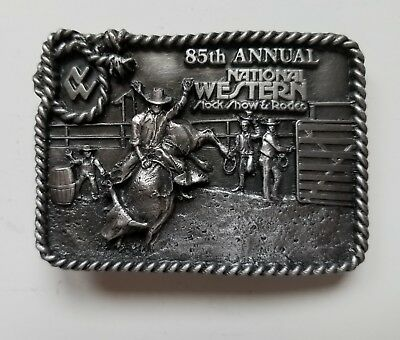 85th Annual NATIONAL WESTERN STOCK SHOW & RODEO BUCKLE - 1991