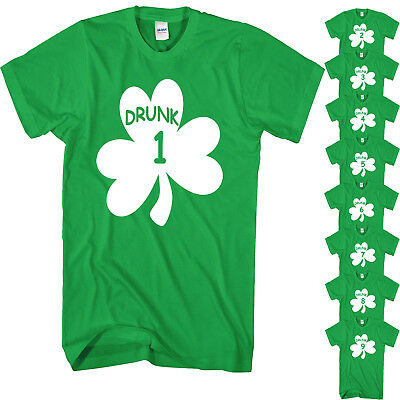 St Patricks Day T Shirt Paddys Day Novelty Funny Drunk 1 To 21 Beer Drinking Top
