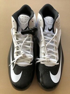 timeless design 7a916 71d7b Football Cleats Nike Code Pro 3 4 Size 16 White Black NWOB HIgh School  College