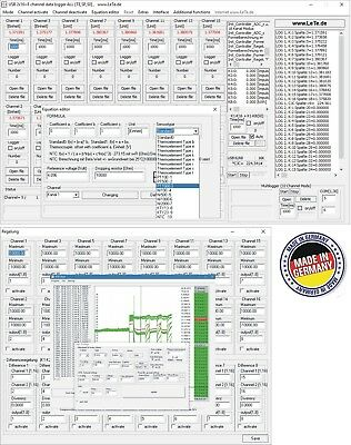 Multichannel 16-channel data logger, voltage, current, humidity