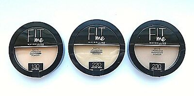 Maybelline Fit Me Matte + Poreless Pressed Powder -Round  Please Choose Shade