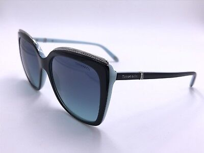 6ad9271bf3e Tiffany co Awesome Sunglasses Tf4135 B 8055 9S Aquamarine Crystals Authentic