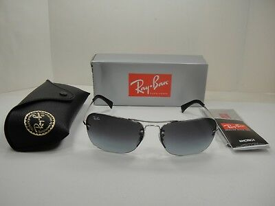 d67accb0d9 Authentic Ray-Ban Sunglasses Rb3541 003 8G Silver Frame grey Gradient Lens  61Mm
