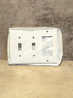 3 Gang White Switch & Decora Combination Wall Plate