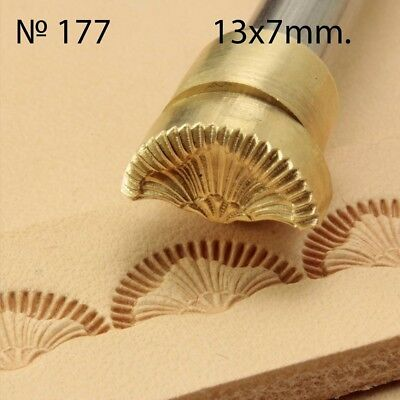 Leather stamp tool crafting crafts brass saddle making stamps #177