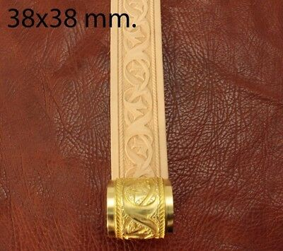 Leather crafting stamp tool for leather crafts brass stamps Belt Roller 4