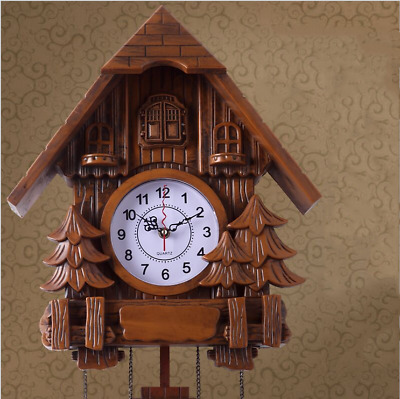 LE Art Cuckoo Clock Living Room Creative Wall Clock Imitation Wood wall clock