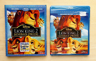 The Lion King 2: Simba's Pride (Blu-ray/DVD, 2012, Special Edition) W/ SLIPCOVER