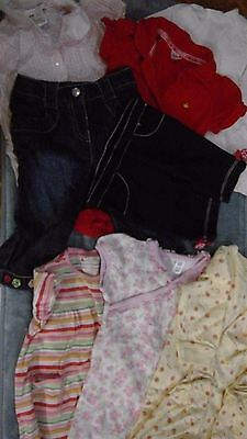 Girl Mixed Items Mix Match, 8 Pc Lot  Denim Jeans, Everyday 6-12 Months