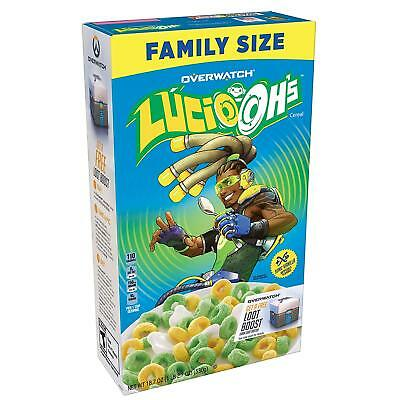 Kelloggs Lucio-Oh's Overwatch Family Size Breakfast Cereal Sonic Vanilla (QTY)