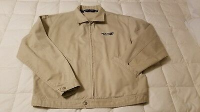 caa21970e315 Vintage 80 s Polo Sport Ralph Lauren Spelled Out Size Large Tan Full Zip  Jacket