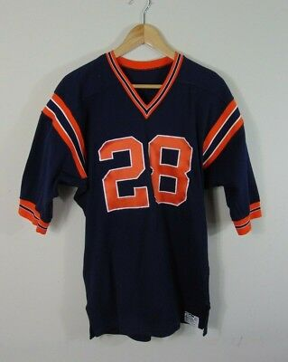 Vintage 80's Powers 40 Chicago Bears Sewn Logo Athletic NFL Football Jersey #28