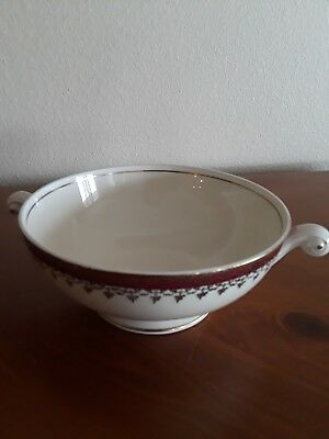 Homer Laughlin Eggshell Nautilus Pattern N1642 Footed Cream Soup Bowl