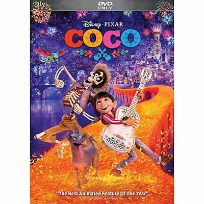 COCO (DVD, 2018) New & Sealed comes with Slipcover Free Shipping Included!
