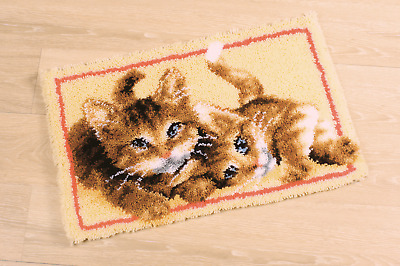 Vervaco Latch Hook Rug Kit Kittens (cat) PN0145610