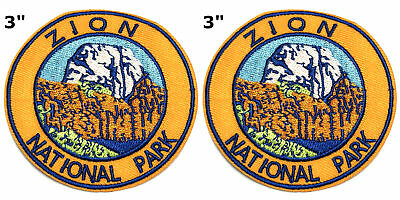 Sew-on Souvenir Travel National Park Series 2 Pcs Embroidered Patch Iron