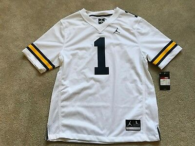 7083ddb68761 Nike NEW Michigan Wolverines MENS  1 NCAA Team College Jersey  90 White  Large L