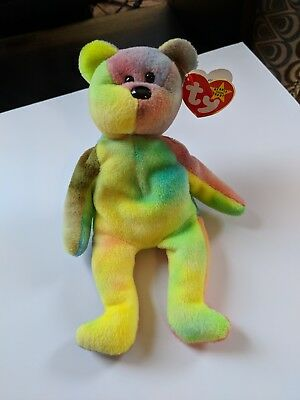 f0e95bd2817 RARE TY BEANIE Baby Garcia The Bear 1993 Discontinued Jerry Garcia ...