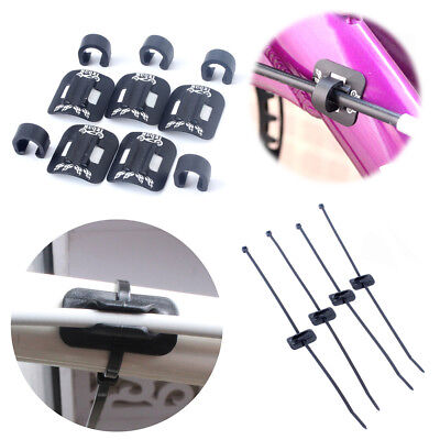CANSUCC 4Pc Brake Cable Bicycle Tube Bike C Shape Buckle Frame Guide Fixed Clamp
