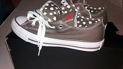 573ebe7dfc5 Converse Women s All Star Ox Double Tongue 534760F Gray Size 6 CHUCK TAYLORS