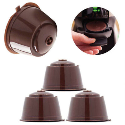Reusable 4 Coffee Capsules Cup Filter 2 Spoon For Dolce Gusto Brewers Nescafe AU