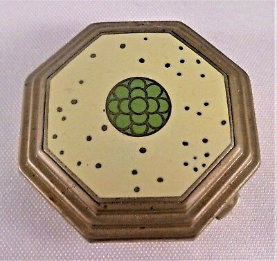 """Richard Hudnut """"Le Debut"""" Art Deco Octagonal Compact & Rouge with Enameling"""