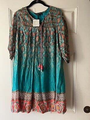 5b40c2fc3258 Anthropologie Tanvi Kedia Glimmered Ankita Dress Brand New with Tags Size  Small