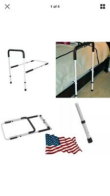 Drive Medical Adjustable Height Home Bed Assist Handle Rail