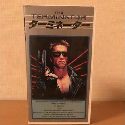 The Terminator 1984 Arnold Schwarzenegger James Cameron Japan release VHS NTSC