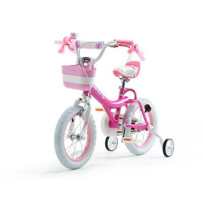 bc7e7fa1146b Fuchsia Steel Bunny Girl's Bike 14 in. Wheels with Basket and Training  Wheels