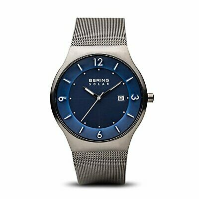 BERING Time 14440-007 Men Solar Collection Watch with Stainless-Steel Strap and