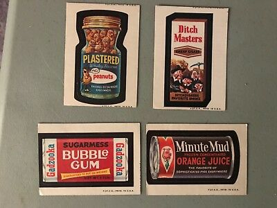 Vintage Wacky Packages Series 2 Stickers Trading Cards Lot