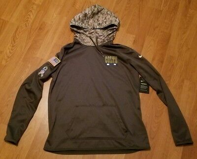best loved f95fc 9c6e8 INDIANAPOLIS COLTS NIKE Salute To Service Camo Sweatshirt Hoodie LARGE $85  LUCK