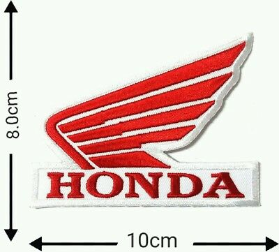 Honda White/Red Racing Motorcycle Patches Logo Embroidery Iron,Sewing on Cloth