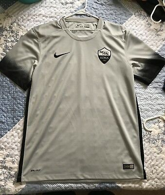 bbe4ad70630 Nike AS Roma Third 2015-16 Authentic Size M