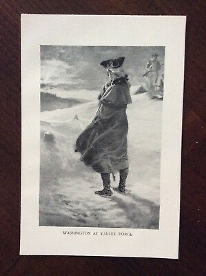 1898 book print illustration George Washington at Valley Forge Amazing Condition