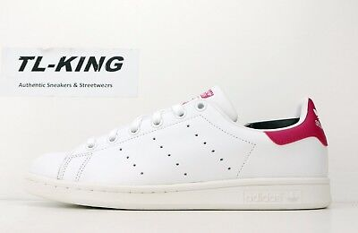 huge selection of 9e8ff 6c4af ADIDAS STAN SMITH J Youth White Bold Pink B32703 LB