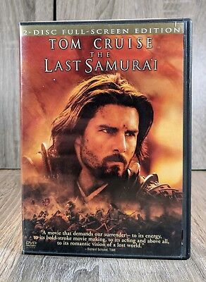 Tom Cruise The Last Samurai 2 Discs with Insert Full-Screen DVD, 2004