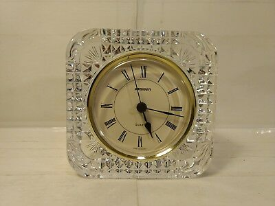 Staiger Clock Desk Mantle Crystal Shelf Paper Weight Home Decoration   hd895