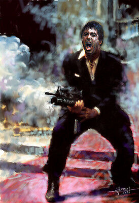 AL PACINO, SCARFACE, Say Hello to My Little Friend, art print on paper by Star