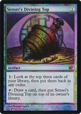 1x - Sensei's Divining Top - Foil NM, English MTG From The Vault