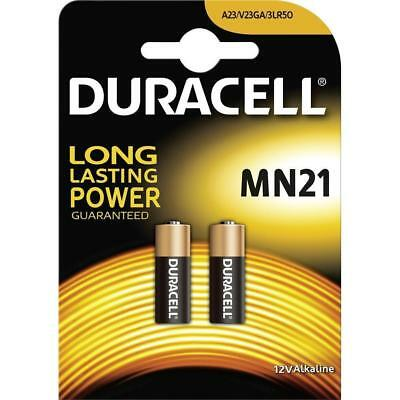 NEW Duracell MN21 A23 LRV08 12V Security Alkaline Batteries (Pack of 2) Exp 2023