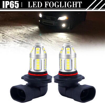 2X 9005 HB3 H10 9145 6000K White LED CREE Headlight Bulbs Daytime Fog Light DRL