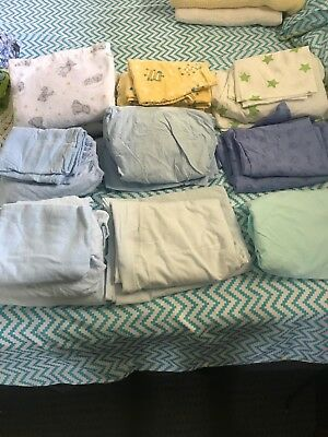Cot sheets bulk. Flanelnette and cotton blend sheets. Good condition.