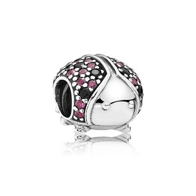 Authentic Pandora Sterling Silver Lady Bug Charm Bead 791484CFR