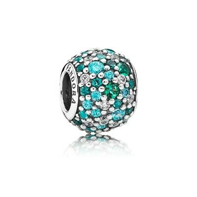 Authentic Pandora Sterling Silver Sky Mosaic Pave Charm Bead 791261NSBMX